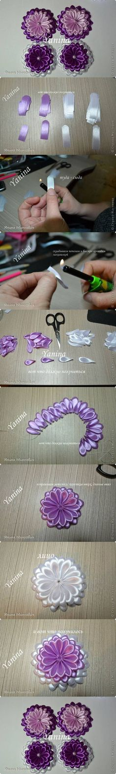 DIY Modular Ribbon Flower DIY Projects | UsefulDIY.com