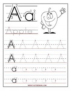 Printable letter A tracing worksheets