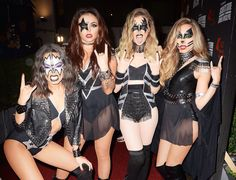 Little Mix dressed as KISS