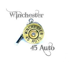 Winchester 45 Auto casing Tie Tack bullet jewelry by lizzybleu, $20.00
