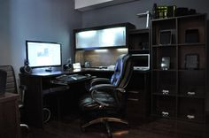 Comfortable computer room ideas at home elegant stylish - Home office setup ideas ...