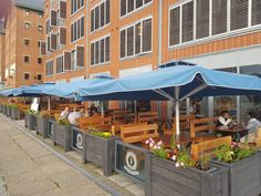 Greek restaurant in Gloucester Docks, Whitebait and Mixed Grill Outdoor Restaurant Design, Restaurants Outdoor Seating, Restaurant Seating, Restaurant Interior Design, Pizza Restaurant, Outside Seating Area, Outdoor Seating Areas, Coffee Shop Design, Cafe Design