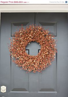 WREATH SALE Berry Fall Wreath Thanksgiving Wreath by ElegantWreath