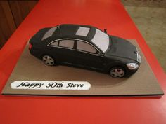 Mercedes S Class Car cake Mercedes S Class, Mercedes Car, Fancy Cakes, Fondant Cakes, 3rd Birthday, Fun, Cooking, Pattern, Inspiration