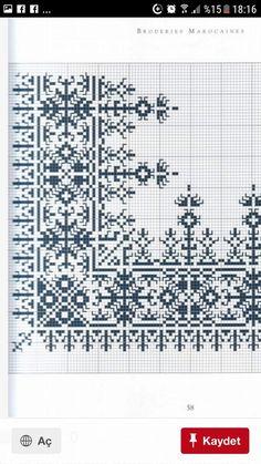 Xmas Cross Stitch, Cross Stitch Borders, Cross Stitch Designs, Cross Stitch Embroidery, Embroidery Patterns, Cross Stitch Patterns, Crochet Patterns, Palestinian Embroidery, Macrame Art