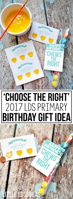 These 'Choose the Right' LDS Primary Birthday printables are perfect for the…