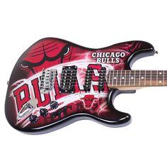 Chicago Bulls Official NBA Electric Guitar