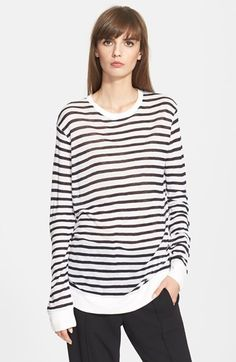 T+by+Alexander+Wang+Long+Sleeve+Stripe+Tee+available+at+#Nordstrom