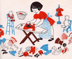 my vintage book collection (in blog form).: Let's Play House - illustrated by Lois Lenski
