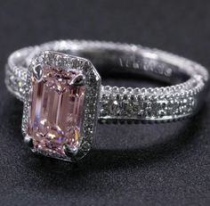 A pink diamond engagement ring is breathtaking....: www.modwedding.co... #wedding #weddings #engagement_rings
