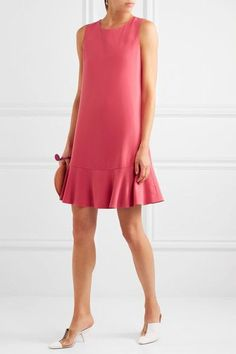 Boutique Moschino - Stretch-crepe Mini Dress - Fuchsia