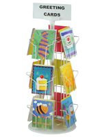 """Greeting Card Rack : 12 Pocket, 5"""" x 7"""" Wire Card Holder"""