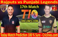 Cricket League We provide 100 % sure today cricket match prediction tips by raja babu. Who will win today match RJS vs PLS. Live score with ball by ball update. Live Cricket, Cricket Match, Matches Today, Who Will Win, Legends, Baseball Cards, Tips, Sports, Free