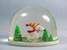 Vintage plastic snow globe
