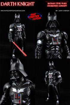 darth knight (batman/star wars crossover concept)