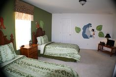 Sand Hill Point home with child room decorated with a Jungle Book theme