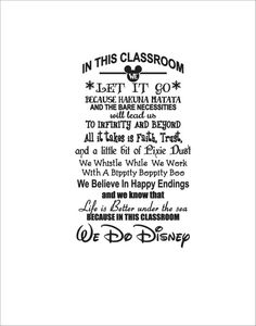 Teacher Disney in this classroom we let it go disney quotes instant digital download cutting file eps svg we do disney