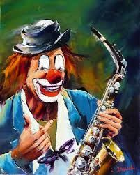 Image result for clowns musiciens peinture