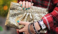 Cómo hacer un clutch dorado de fiesta - Ropa DIY