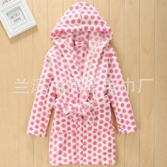 Evebright Kids Girl Soft Touch Plush Bathrobes Hooded >>> Check this awesome image @ Kids Pamper Party, Night Gown, Kids Girls, Latest Fashion Trends, Hooded Jacket, Girl Fashion, Raincoat, Group Au, Full Sleeves