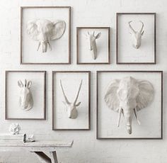 Want all of these-Papier-Mâché Elephant Head | Accents | Restoration Hardware Baby & Child