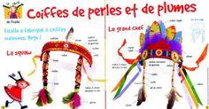 Coiffes d'indiens perles et plumes