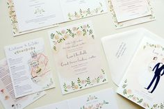 wedding stationery wedding portrait and maps illustrated by Emma Block by @jollyedition