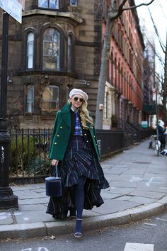 Atlantic Pacific Plaid Skirt and Beret // Winter Style #ootd #nycstyle #blogger