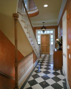 Open foyer to finished basement?