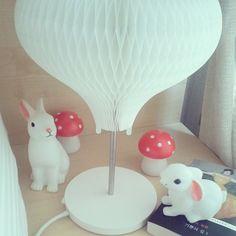 조명 스탠드 토끼램프 봉쁘앙 딜라이트 Woodland rabbit, toadstool and bunny night lights by Dotcomgiftshop
