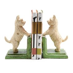 Westie bookends from Anthropologie