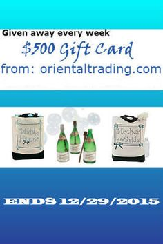 Wedding Sweepstakes Oriental Trading Ends December 29th 2015