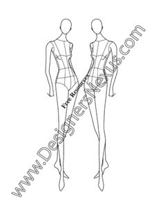 019- female fashion figure pose three-quarter view croqui - FREE download and more croquis in Illustrator & .png at designersnexus.com!