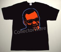 RAY CHARLES drawing 1 CUSTOM ART UNIQUE T-SHIRT   Each T-shirt is individually hand-painted, a true and unique work of art indeed!  To order this, or design your own custom T-shirt, please contact us at info@collectorware.com, or visit http://www.collectorware.com/tees-ray_charles.htm