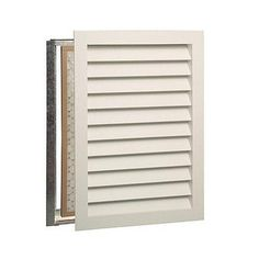 Worth Home Luxury Return Air Grille - Premier (Primed) - a quick and easy solution to unattractive metal A/C grilles Return Air Grill, Air Return Vent Cover, Cold Air Return, Wall Vent Covers, Ac Vent, Home Luxury, Diy Home, Home Decor, Thing 1