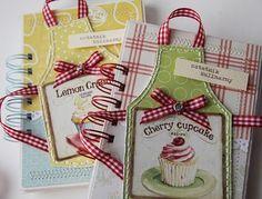 Lembrancinhas de chá de panela - caderno de receitas