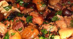 Ragout de porc Cévenol Un délicieux ragoût « terroir », riche de goûts et de saveurs authentiques.