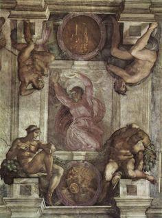 Deus separando a luz da trevas - Capela Sistina