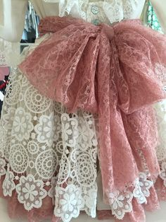 Vestido bordado rosa Via Flora for Girls #renda #pérolas