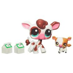 LITTLEST PET SHOP CUTEST PETS LUNCHTIME WITH MOMMY - Mommy Cow and Baby Cow Set