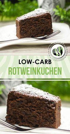 Der low-carb Rotweinkuchen ist einer der besten Kuchen die es gibt. Schön schokoladig, schön saftig und sau lecker.