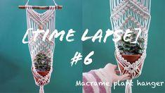 Time lapse 6 Macrame plant hanger Macrame Plant Hangers, Macrame Tutorial, Creative, Plants, Youtube, Videos, Wall, Walls, Plant