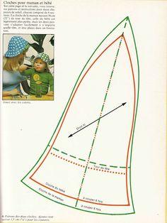 DIY vintage, couture, années 70: Chapi Chapo /chapeau cloche mere et enfants