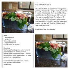 Fat Flush Water - Need to try this!