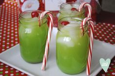 The Grinch Cocktail - this would be perfect to make for our annual ugly sweater party!