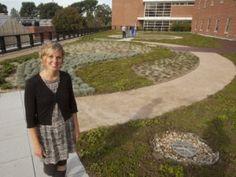 Megan Welsh on Howlett Hall's green roof