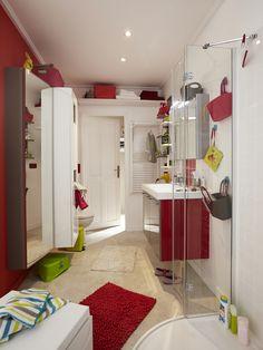 salle de bain rouge - Salle De Bain Rouge Leroy Merlin