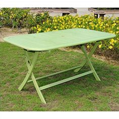 Chelsea Acacia Painted Folding Patio Dining Table <3 Click the swimwear to find out more
