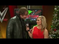 WWE Raw 12/23 Dean Ambrose and Renee Young