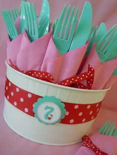 Hello Kitty Red, Pink  Aqua / Birthday Hello Kitty 7th Birthday | Catch My Party